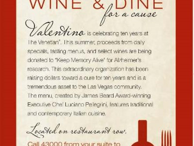 Wine and Dine for the Cause