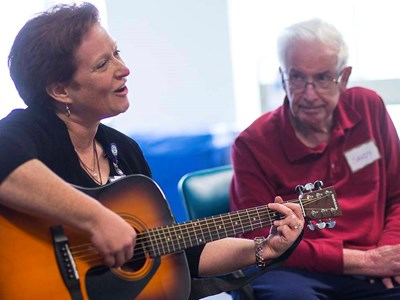 Music therapy can trigger memories in dementia patients