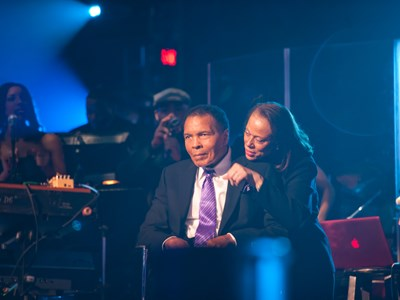 Muhammad and Lonnie Ali at the 2012 Power of Love gala
