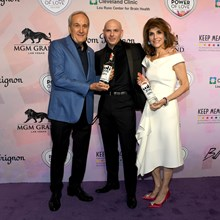 Larry Ruvo, Pitbull and Camille Ruvo at Keep Memory Alive's 22nd annual Power of Love gala